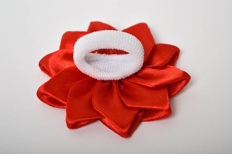 Handmade flower hair tie hair scrunchie flowers for hair gifts for girls photo 3