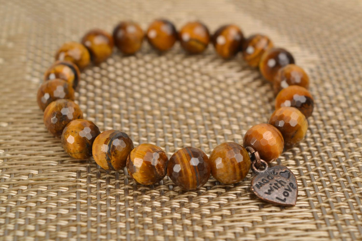 Interesting bracelet with brown agate photo 1