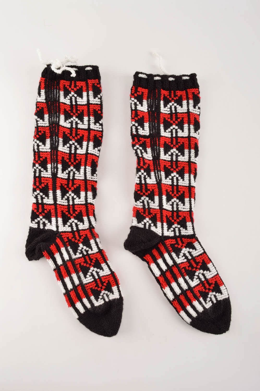 Handmade designer woolen socks warm women footwear beautiful socks - MADEheart.com