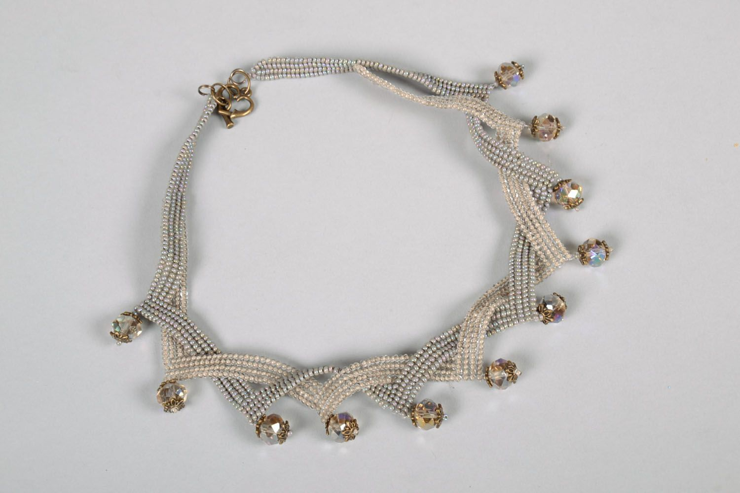 Unusual beaded necklace photo 3