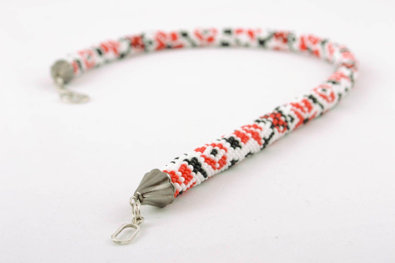 Beaded necklace in Ukrainian style photo 3