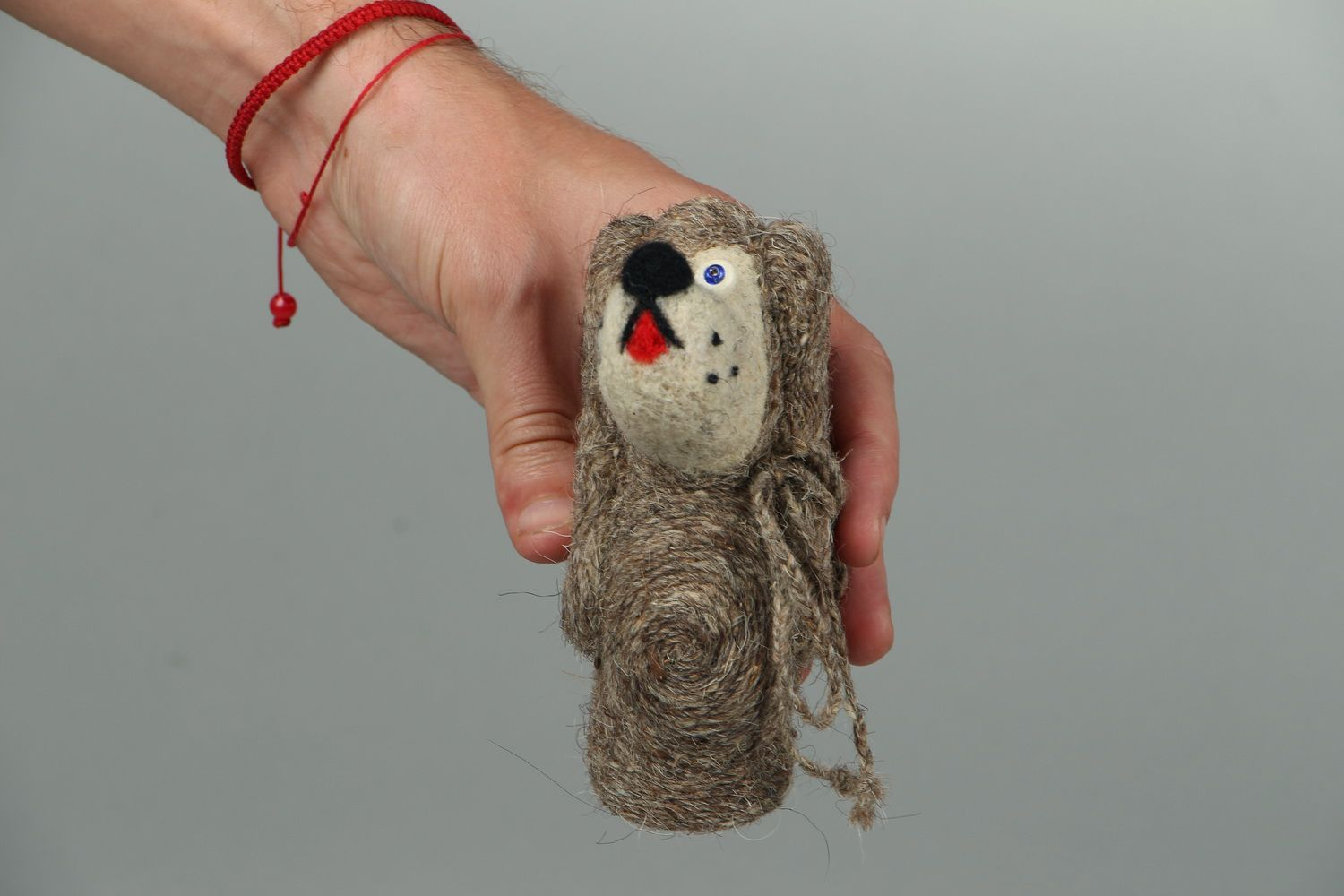 Toy made of felted wool Lady photo 4