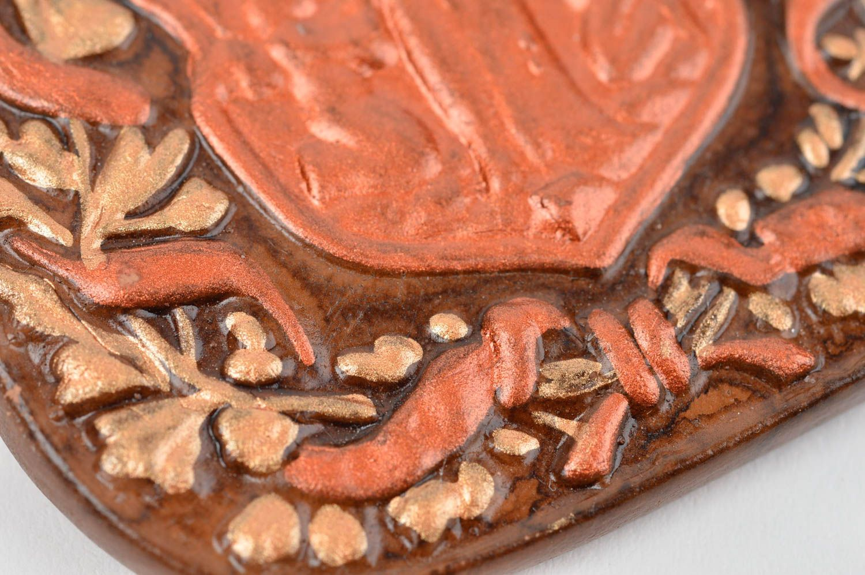 Unusual handmade ceramic fridge magnet painted clay fridge magnet kitchen decor photo 5