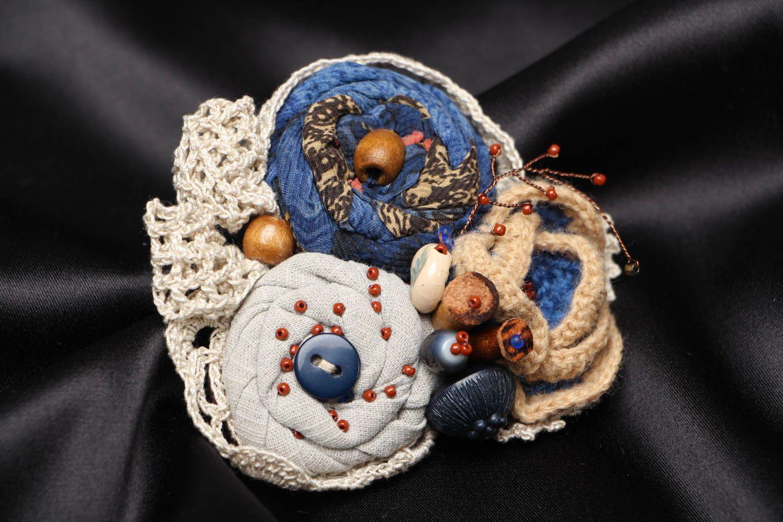 Unusual fabric brooch Winter Still Life photo 1
