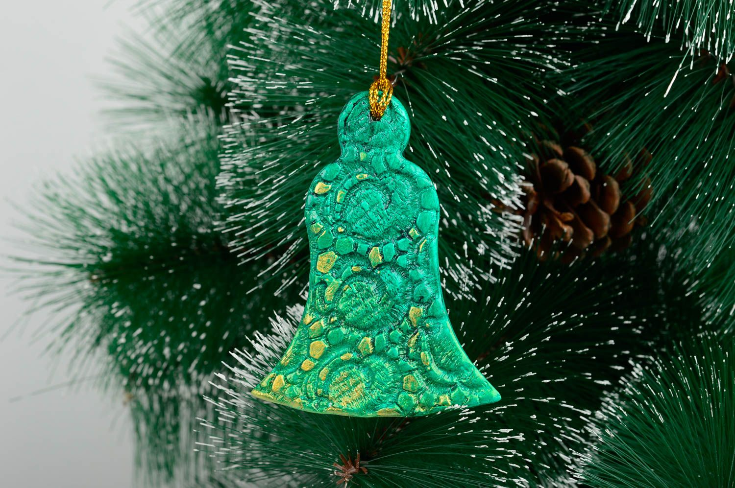 Ceramic Christmas Tree Decorations.Ceramic Christmas Tree Decor Handmade Clay Wall Hanging Decorative Use Only