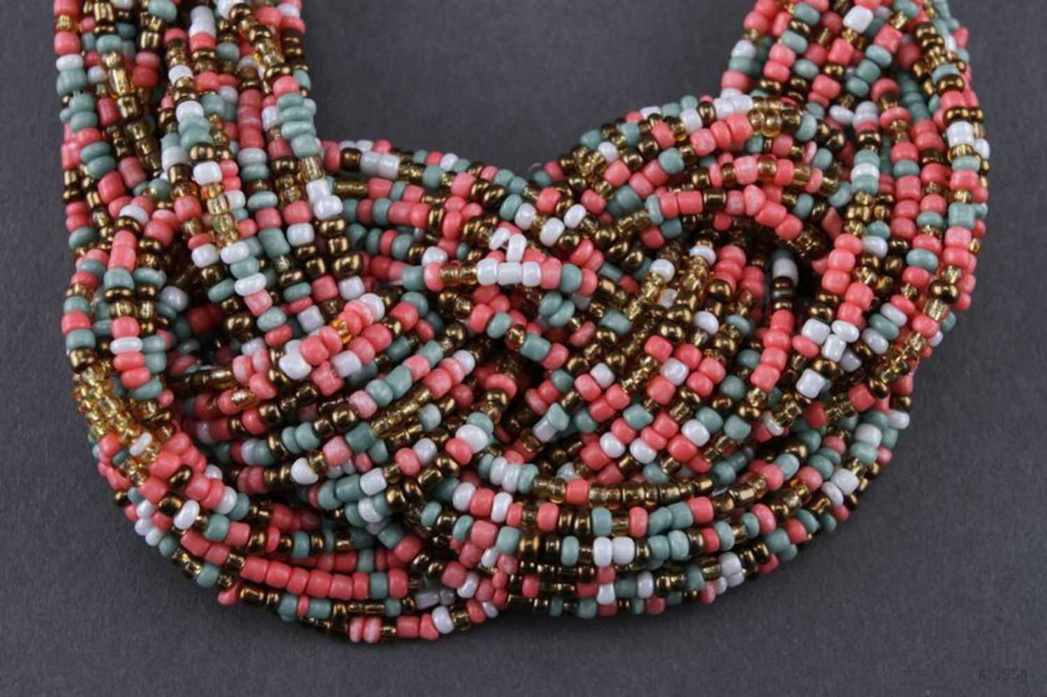 Necklace made of multicoloured beads photo 1