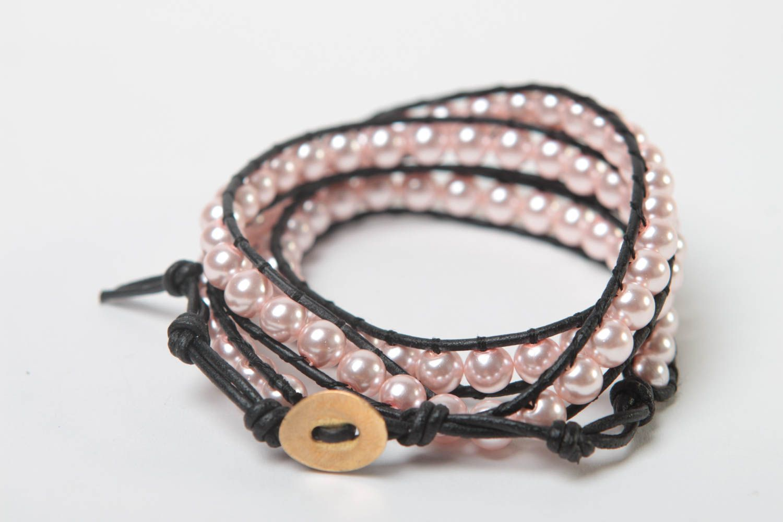 Handmade woven bracelet beaded bracelet designer accessory for every day photo 5