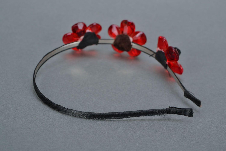 Headband Red Flower photo 5