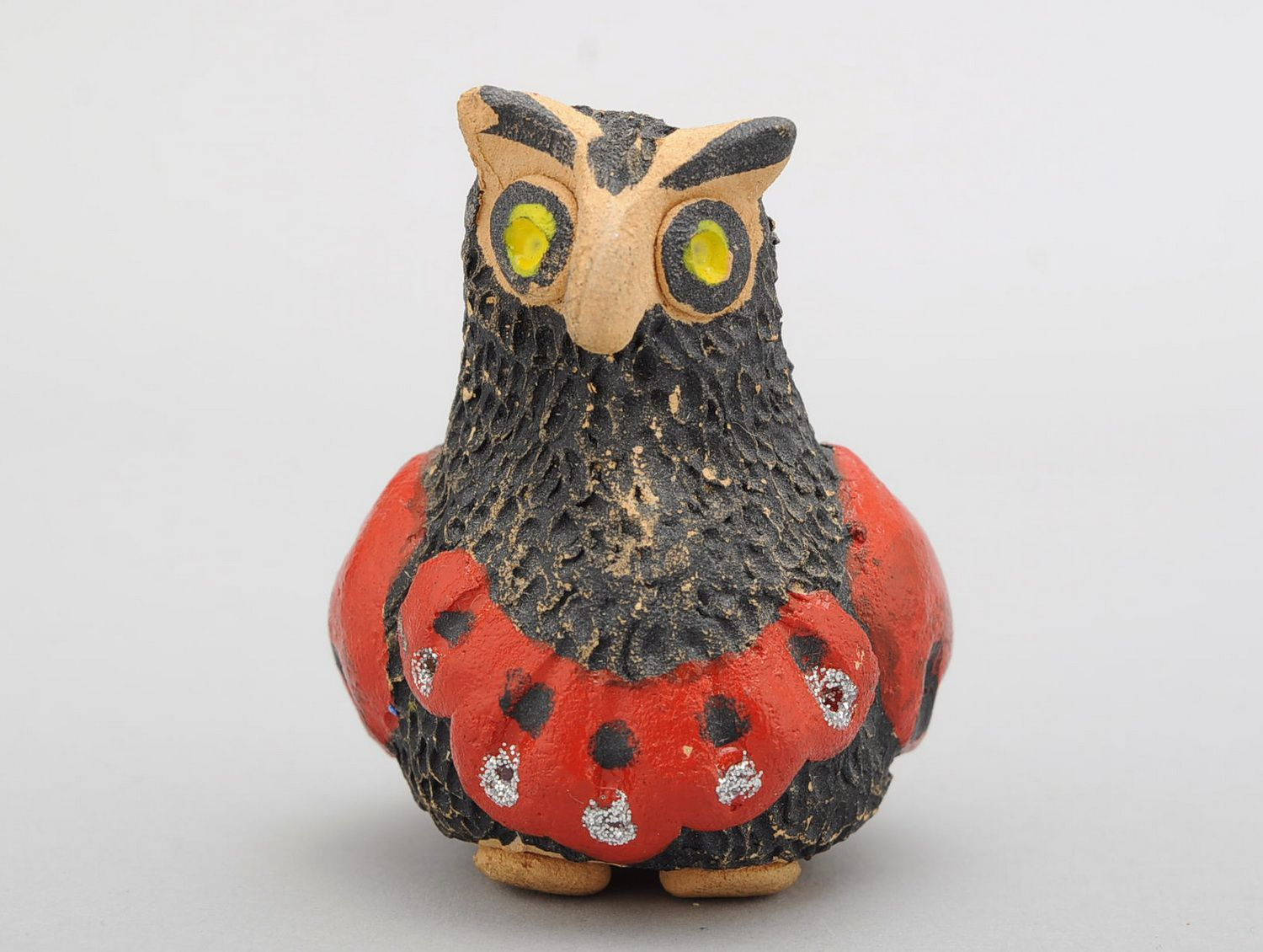 Penny whistle in the form of owl, hand work photo 1