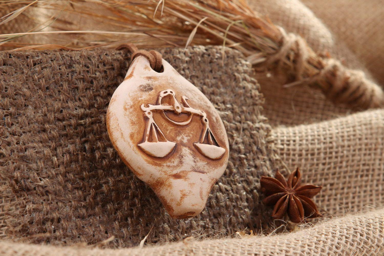 Ceramic tin whistle sign of Zodiac Libra photo 1