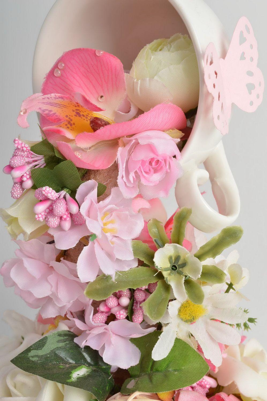 madeheart d coration florale originale tasse de fleurs renvers e faite main design. Black Bedroom Furniture Sets. Home Design Ideas
