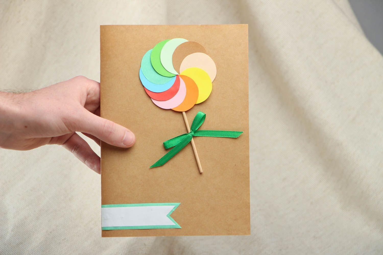Открытка из картона цветного 87