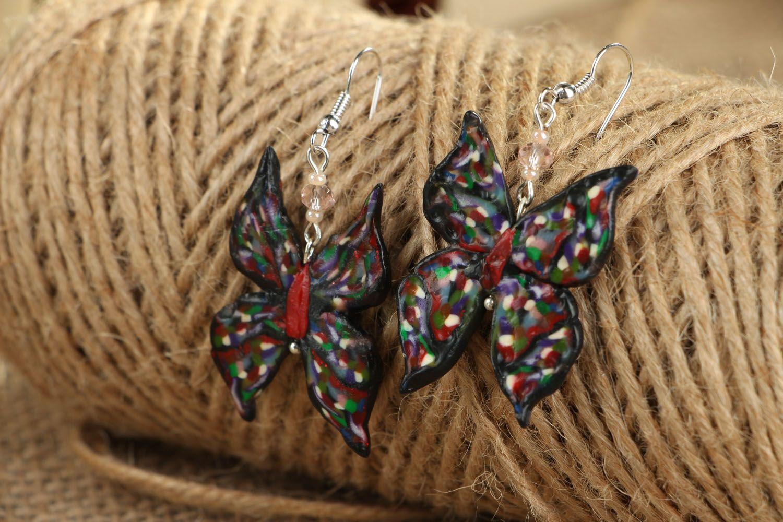 Polymer clay earrings Butterflies photo 3