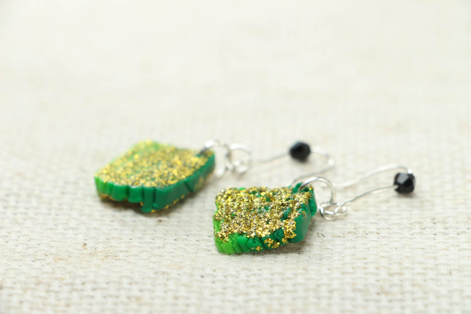 Unusual polymer clay earrings photo 2