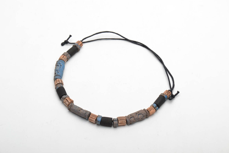 Ceramic bracelet in ethnic style photo 4
