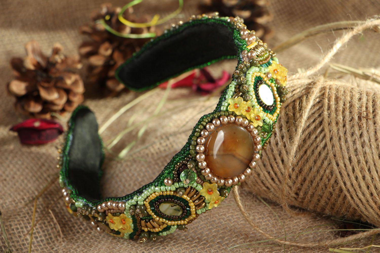 Headband with Czech beads photo 5
