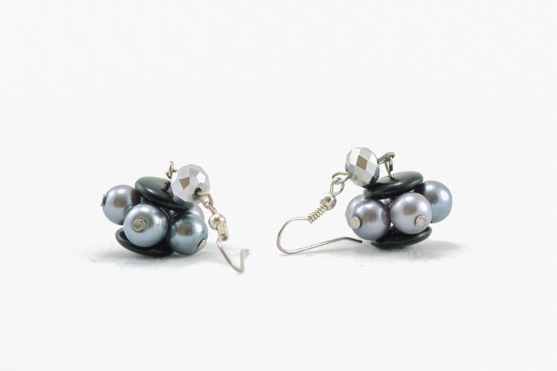 Unusual beaded earrings photo 1
