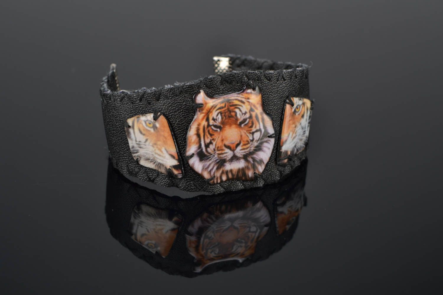 Wide bracelet Tiger Power photo 1