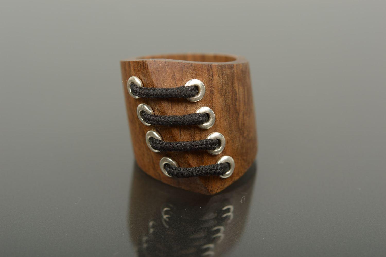 Wooden ring handmade wooden jewelry stylish ring handmade jewelry for women photo 1
