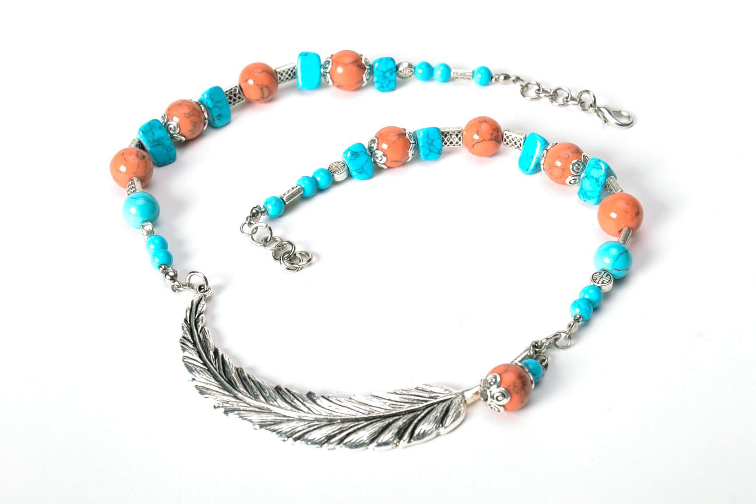 Necklace made of turquoise  photo 5
