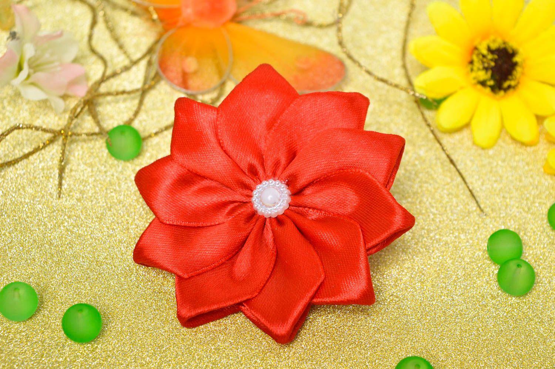 Handmade flower hair tie hair scrunchie flowers for hair gifts for girls photo 1