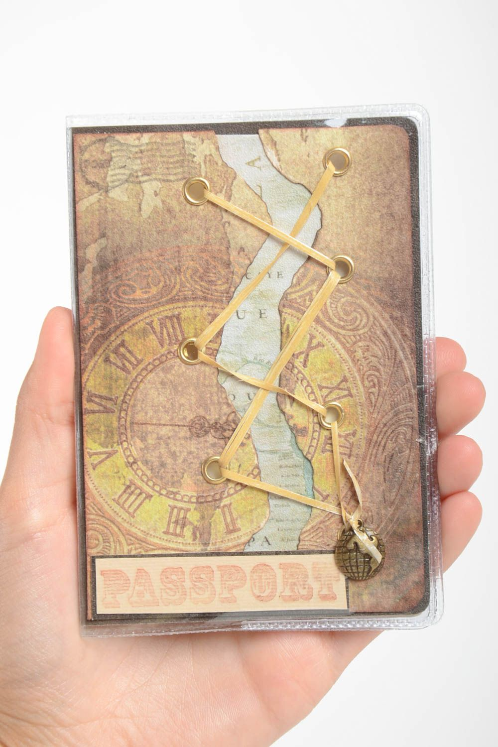 Unusual designer passport cover stylish cover for documents unusual accessory photo 5