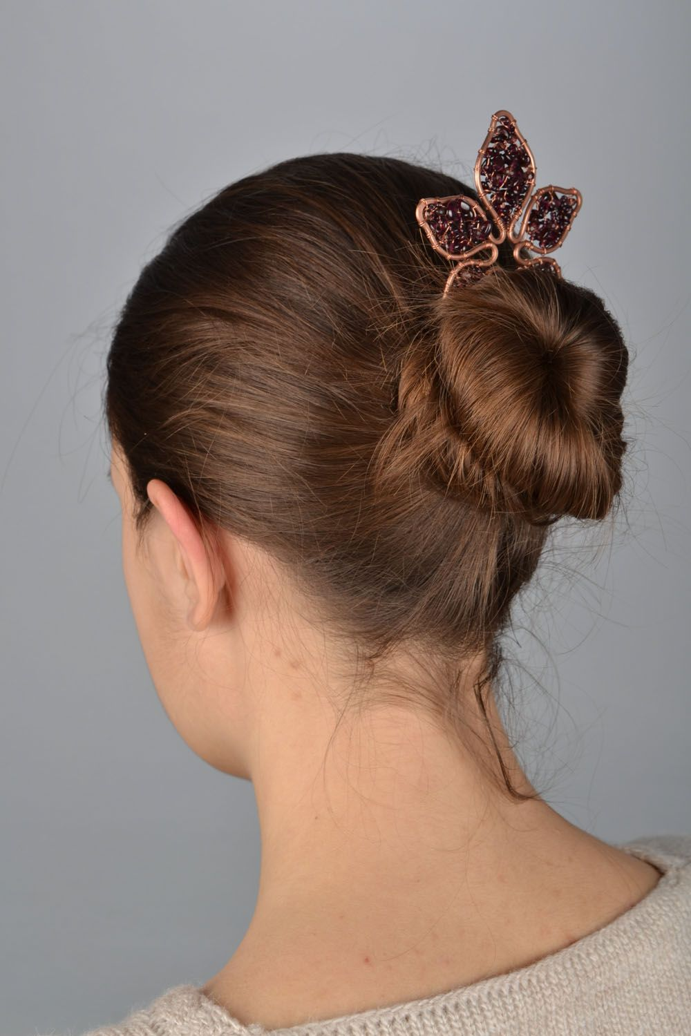 Unusual copper hairpin photo 1