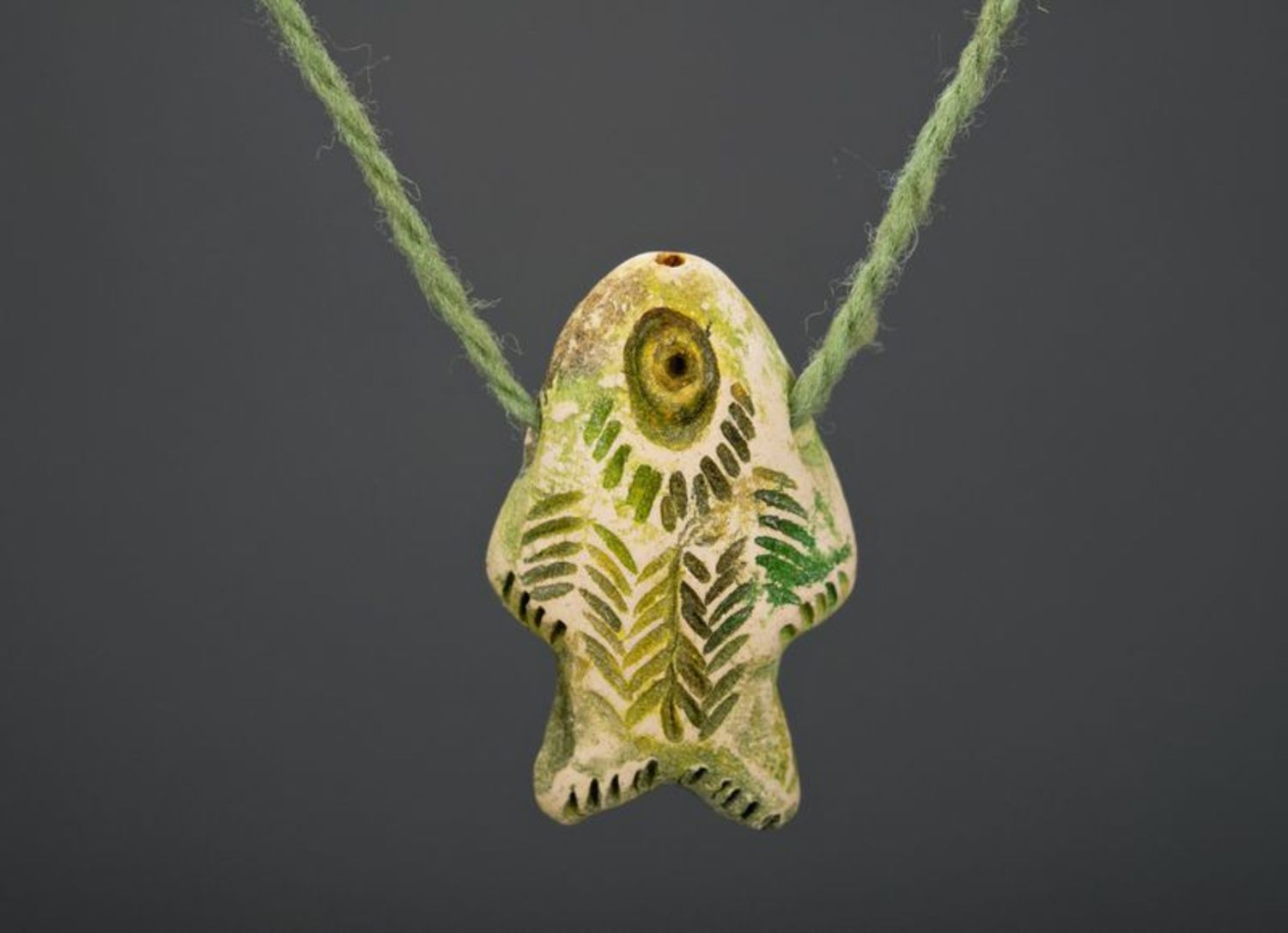 Ceramic pendant Vertical fish photo 3