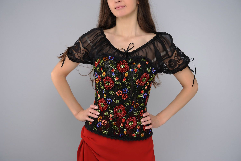 attire Clothing ensemble: skirt, blouse, corset - MADEheart.com