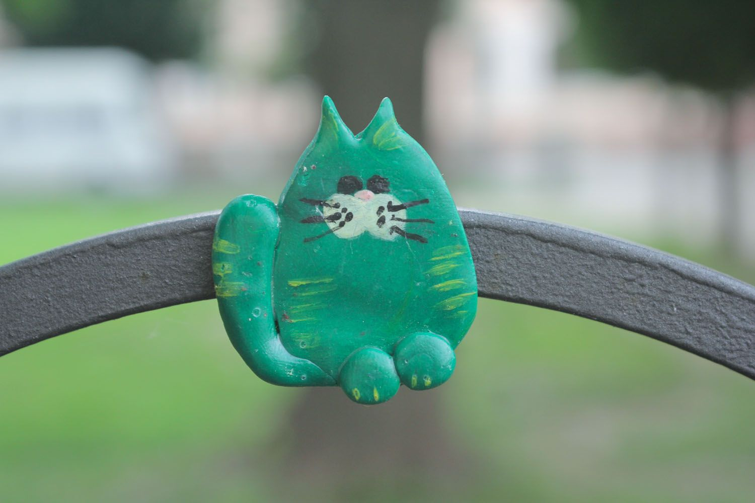 Fridge magnet Green Cat photo 1