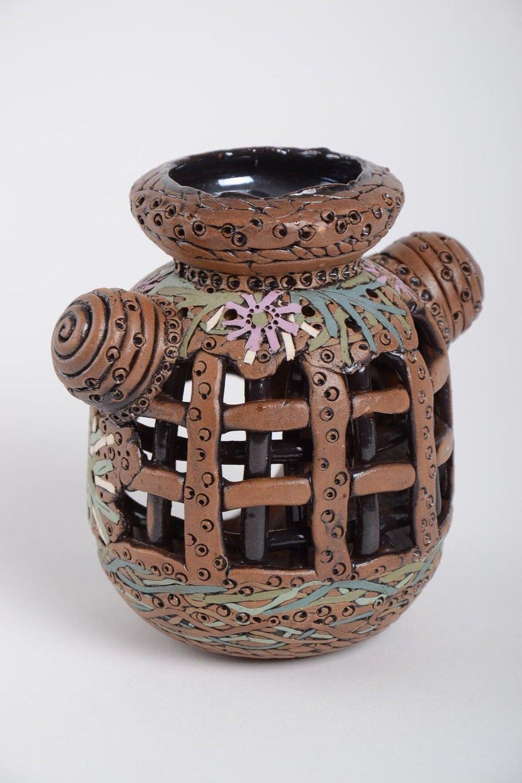 Handmade unusual candlestick carved stylish candlestick stylish home decor photo 4
