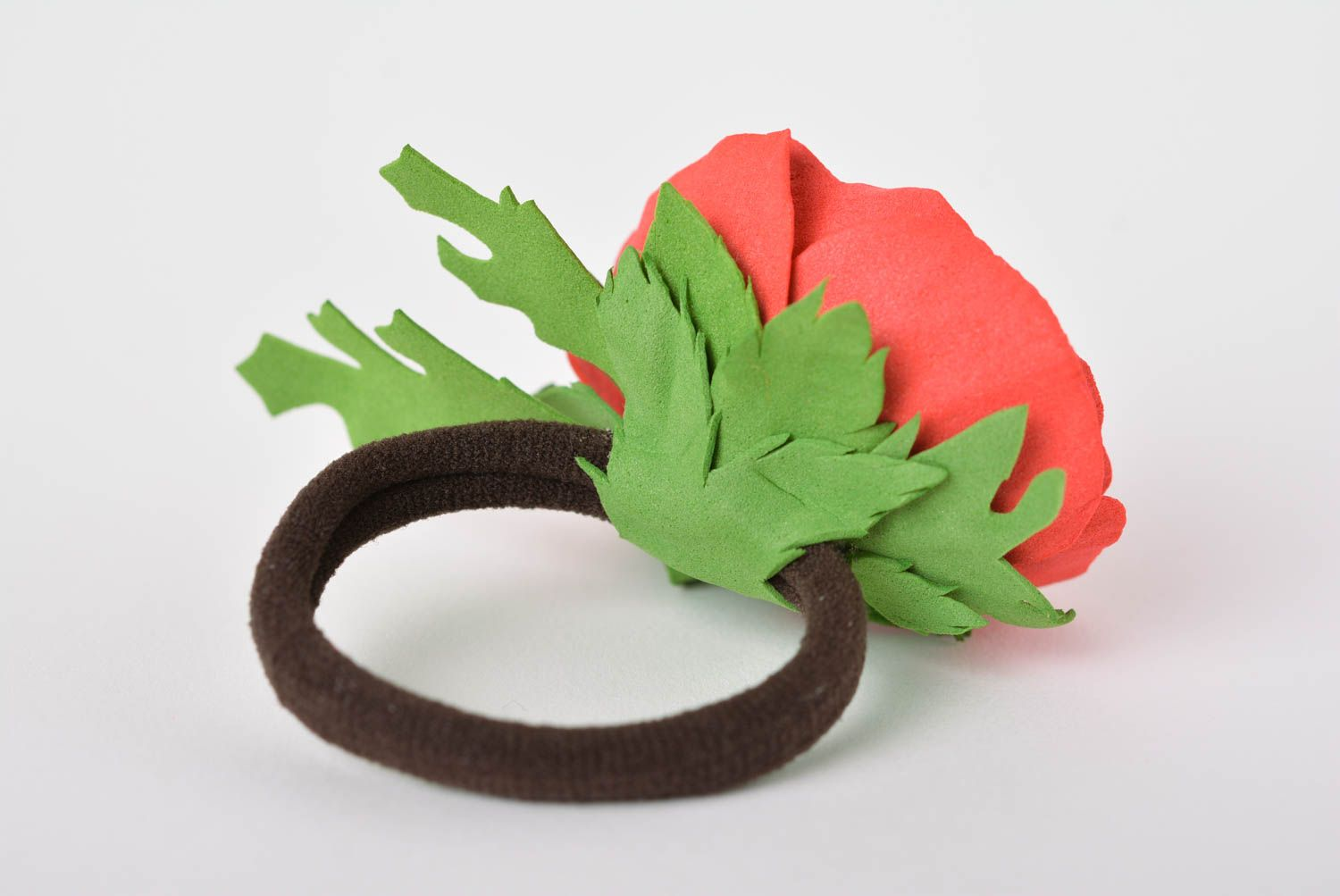 scrunchies Handmade flower scrunchy designer flower barrette hair jewelry for girls - MADEheart.com