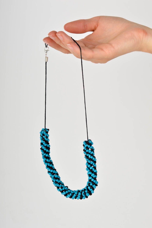 Handmade Schmuck aus Glasperlen Rocailles Kette Damen Accessoire künstlerisch foto 5