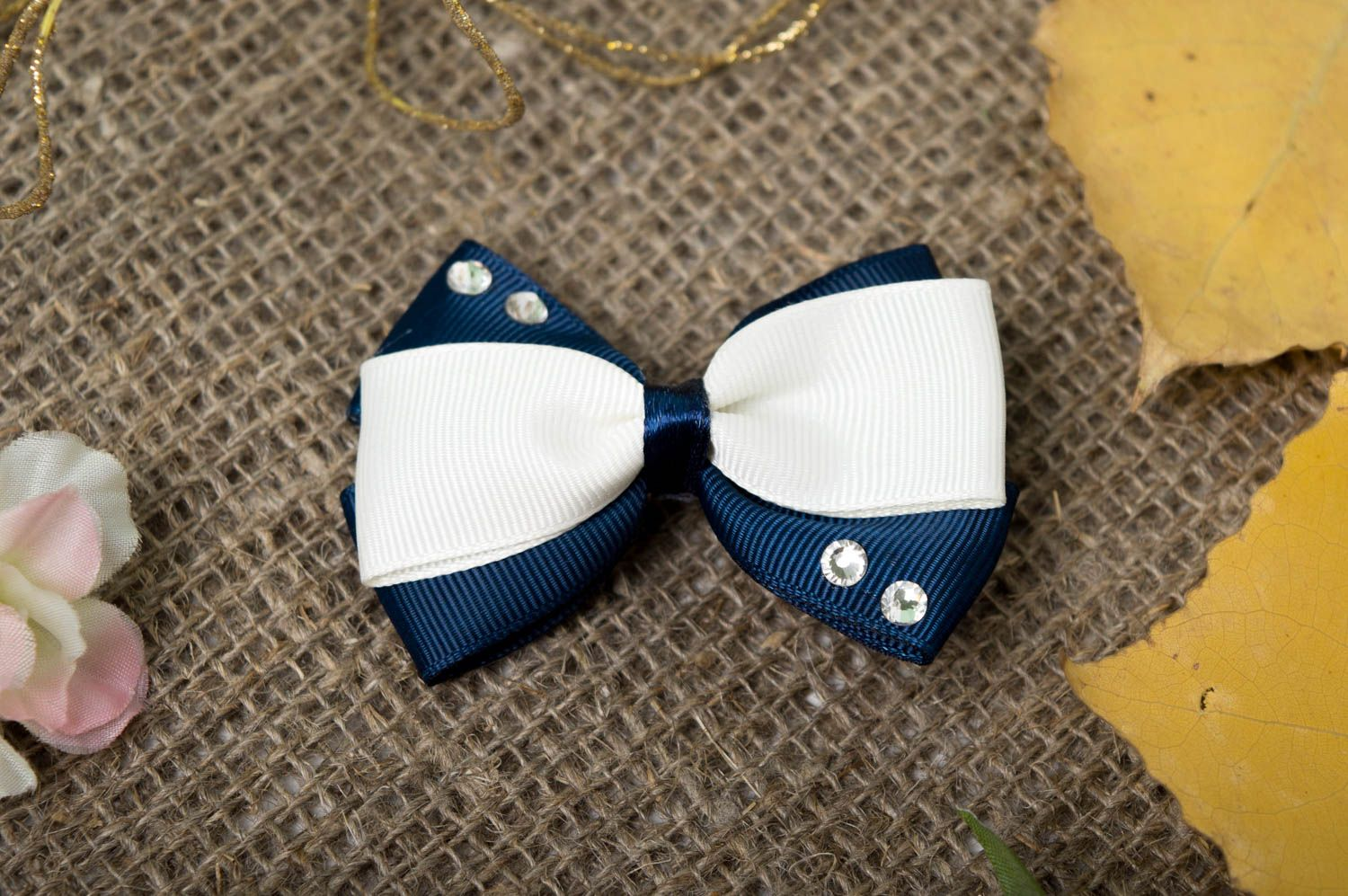Handmade bow hair clip hair jewelry girls hair accessories gifts for kids photo 1