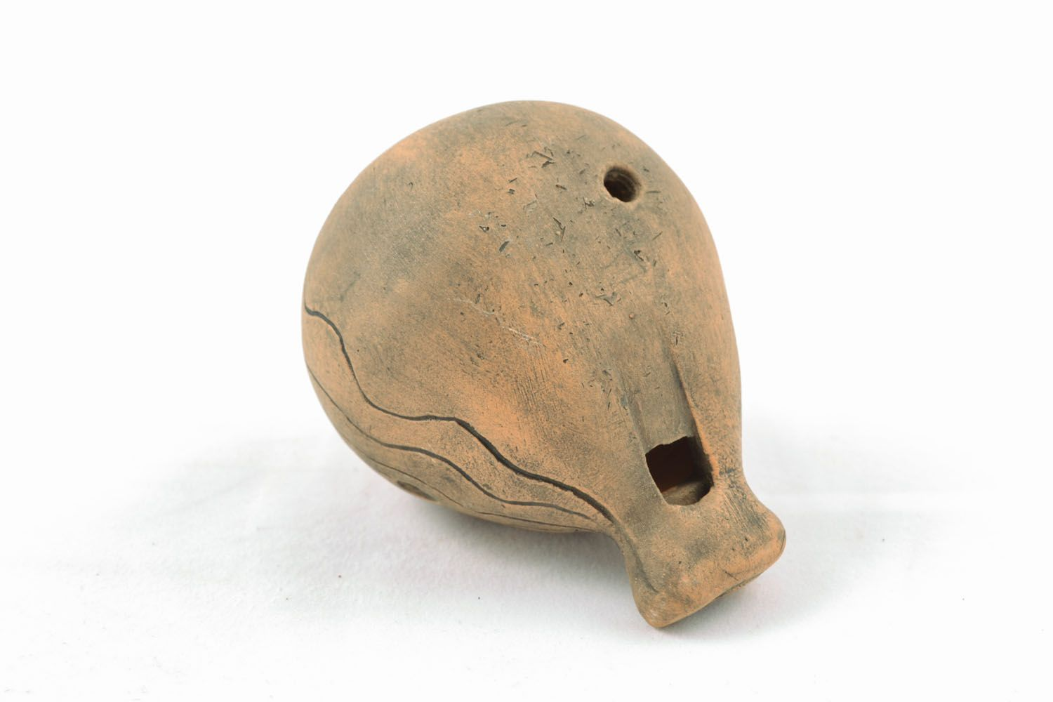 Clay penny whistle photo 4