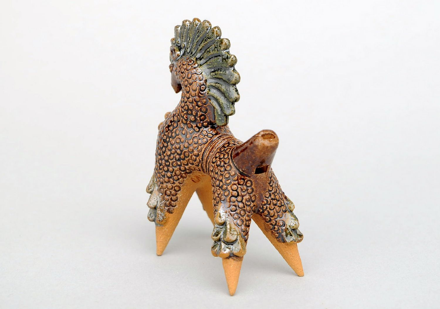 Ceramic penny whistle in the form of horse photo 4