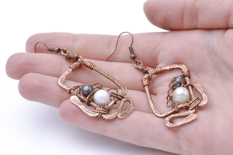 Copper earrings Overseas Dreams photo 2