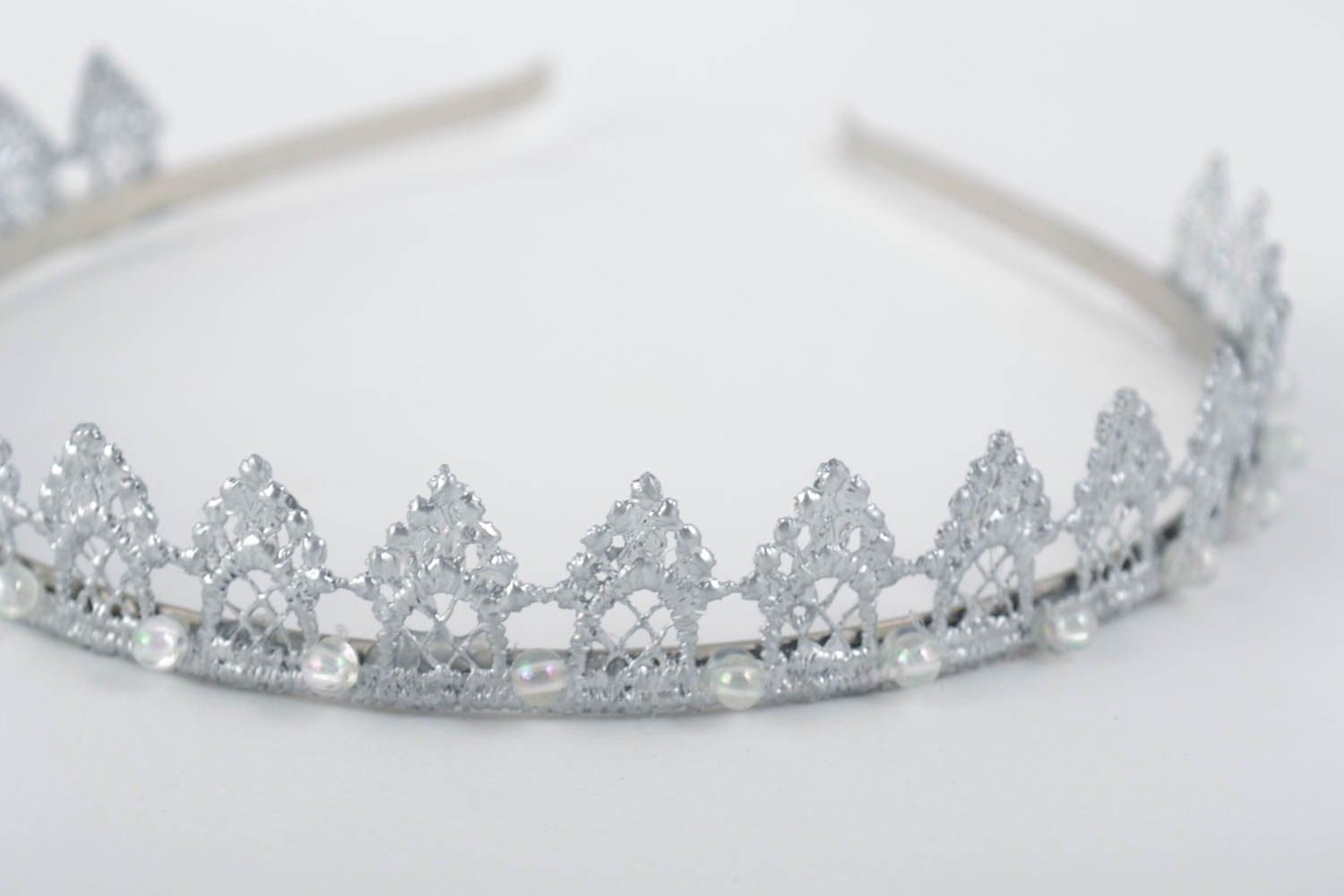 Beautiful handmade diadem hair band designer hair accessories gifts for her photo 3