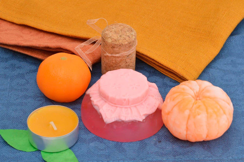 Handmade soap set 3 pieces natural cosmetics natural soap fruits unique gift photo 1