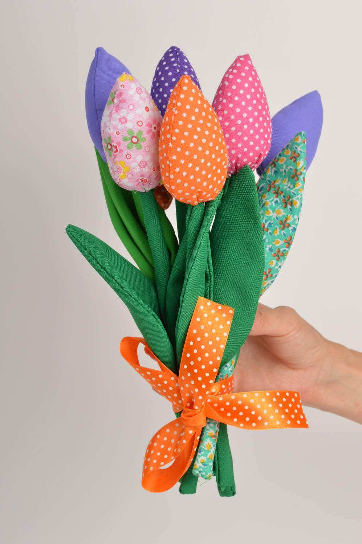 madeheart bunte tulpen blumen aus stoff handmade haus. Black Bedroom Furniture Sets. Home Design Ideas