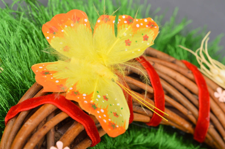 Handmade beautiful decorative door wreath Easter festive beautiful interior ideas photo 4