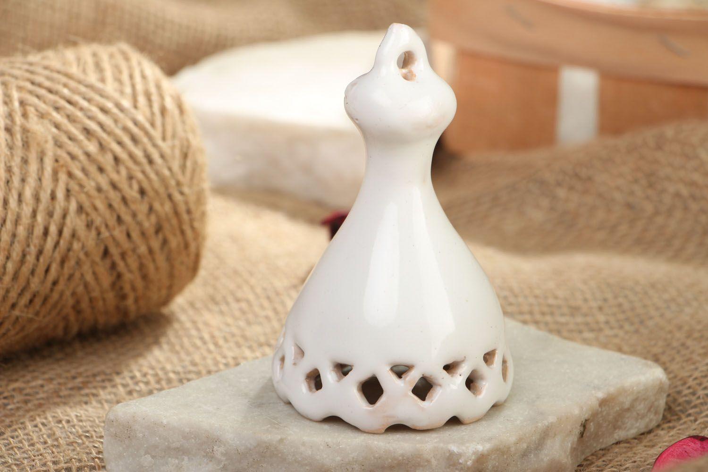 Ceramic enameled bell photo 5