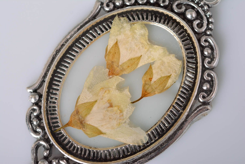Handmade jewelry botanic pendant flower pendant accessories for girls photo 4