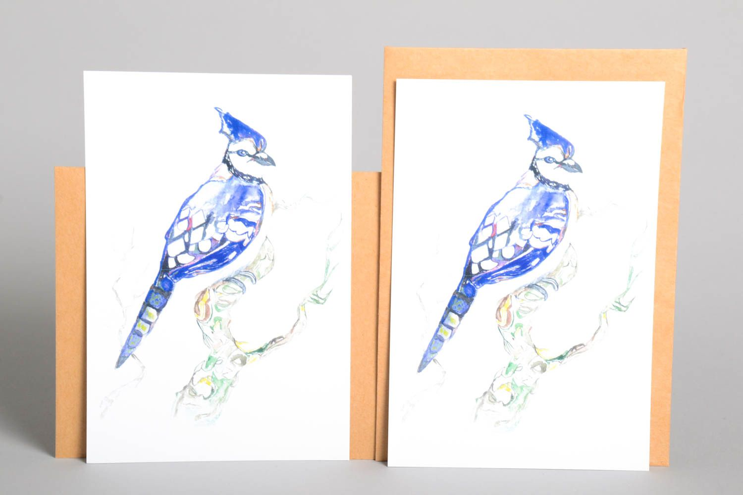 Handmade greeting cards unusual cards designer greeting cards set of 2 items photo 2