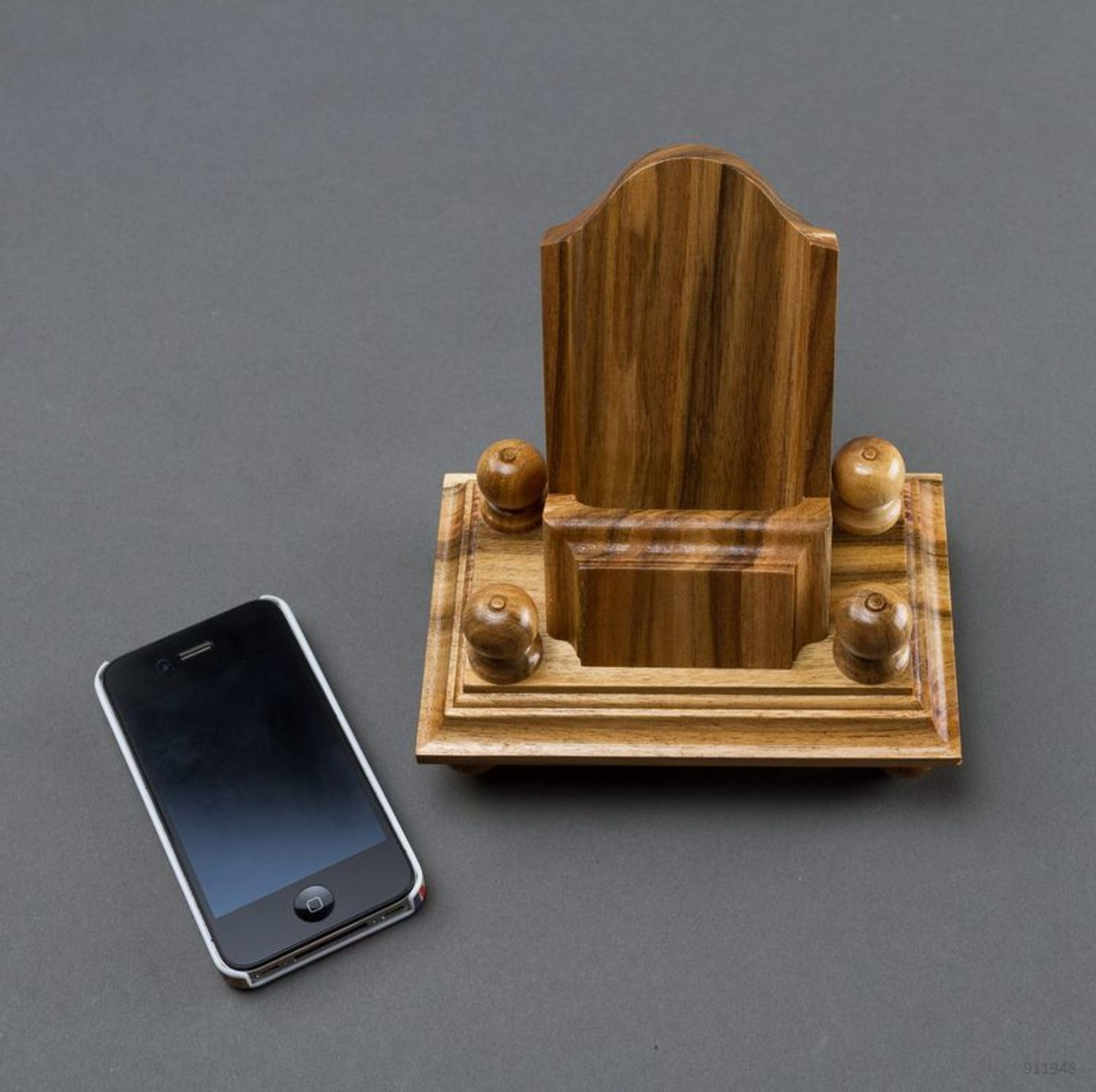 Wooden phone stand photo 2