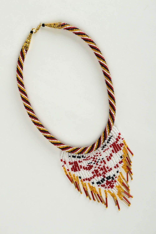 Rocailles Kette handmade Halskette Damen exklusiver Schmuck Damen Collier schön foto 3