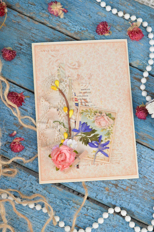 Handmade birthday card unusual collection postcard beautiful souvenir photo 1