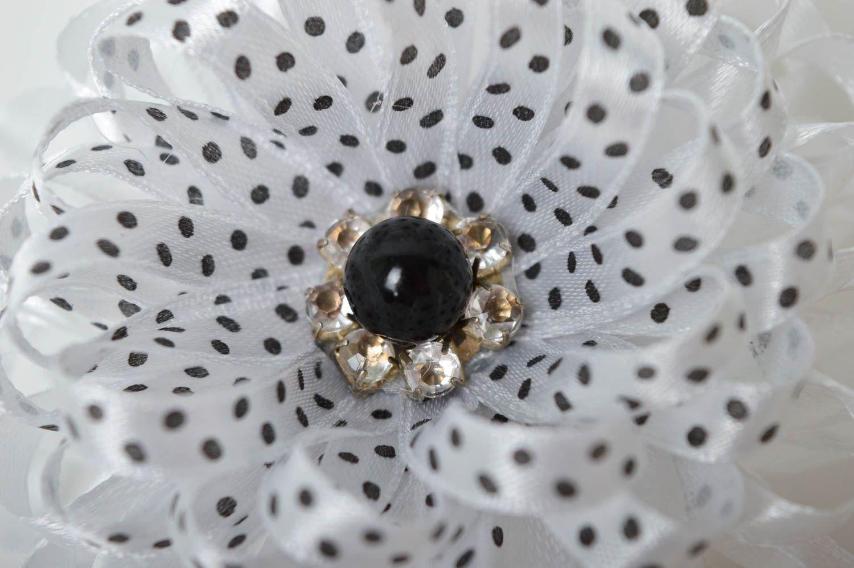 Stylish handmade flower scrunchie hair tie designer hair accessories for girls photo 5