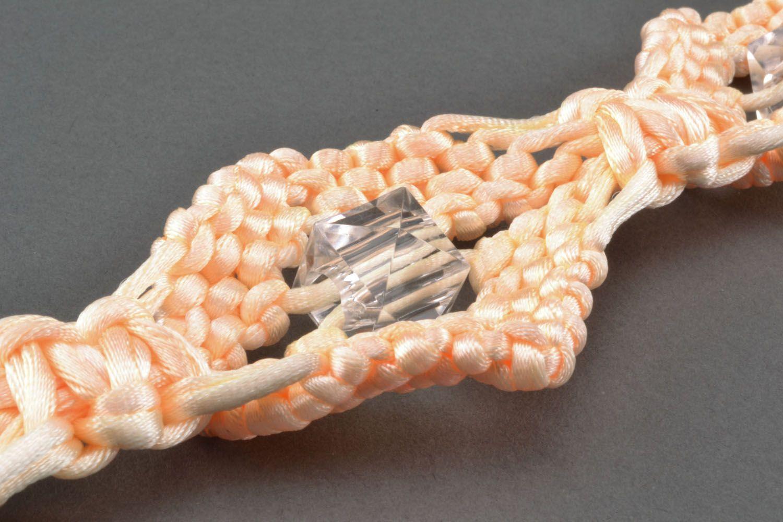 Belt made of silk threads photo 4