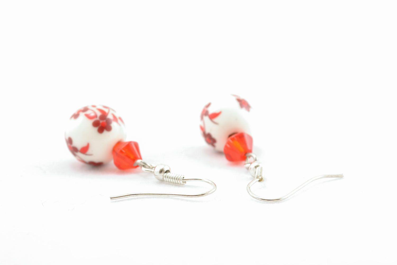 Homemade beaded earrings photo 1